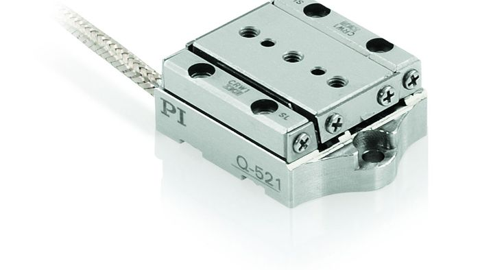 The Q-521 is the smallest linear stage currently available from PI. Based on the stick-slip motor principle, it boasts dimensions as small as 21×30×10mm. Open and closed-loop versions. Two linear encoder options for 1 and 4 namometer resolution are offered, both integrated in the stage body, for minimized dimensions.