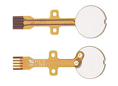 Custom Piezo Transducer Discs with Flexible PCB Terminals for Easy Integration in Volume Production