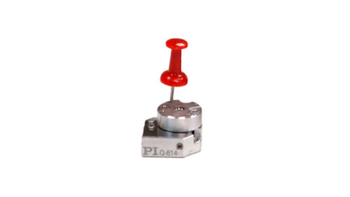 With 14mm table diameter, the Q-614 is the smallest linear stage currently available from PI. The Q-600 series of miniature rotary stages are based on the stick-slip motor principle.