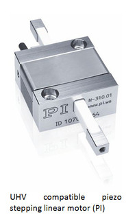UHV compatible piezo stepping linear motor (PI)