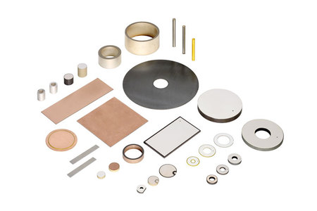 Variety of piezo ceramic transducer disks, rings benders, and tubes. (Image: PI)