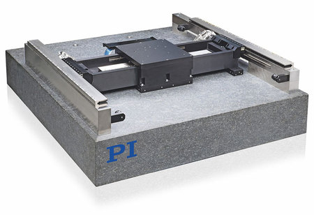 PIglide HS, standard planar air-bearing XY-Yaw linear motor stage for high-precision scanning and inspection applications. (Image: PI) Watch Video: How Air Bearings Work