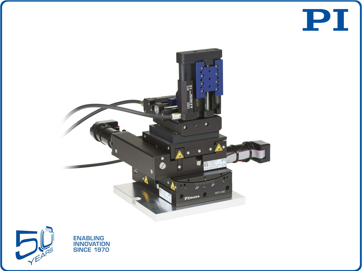 M5-Axis Stage for Precision Positioning and Automated Fiber Optics Alignment